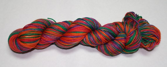 Ready to Ship - Sanderson Sisters Self Striping Hand Dyed Sock Yarn - Tough Sock