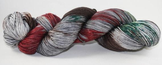 Ready to Ship - Krampus Hand Dyed Sock Yarn - Bulky Merino