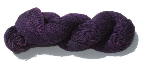Ready to Ship - Sherlock's Purple Shirt of Sex Hand Dyed Sock Yarn - Soft Sock