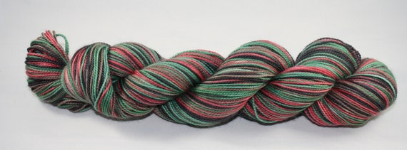 Krampus Self Striping Hand Dyed Sock Yarn