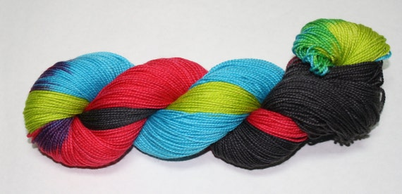 Light Sabers Hand Dyed Sock Yarn