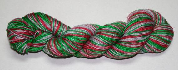 Jingle Bells Self Striping Hand Dyed Sock Yarn