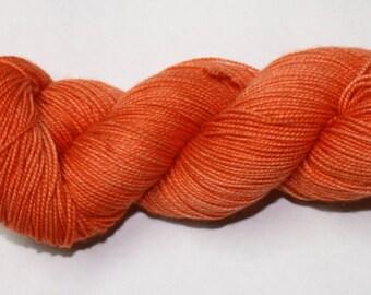 Ready to Ship - Pumpkin Hand Dyed Sock Yarn - Sport Sock