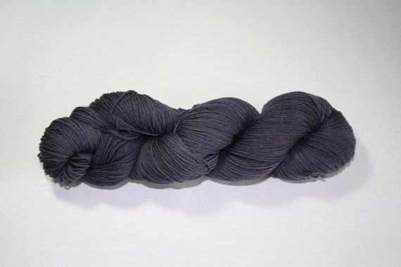 Charcoal Grey Kettle Dyed Sock Yarn