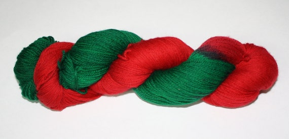 Poinsettia Hand Dyed Sock Yarn