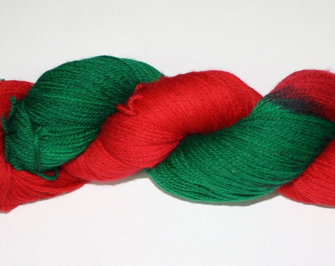 Dyed to Order - Poinsettia Variegated Hand Dyed Sock Yarn
