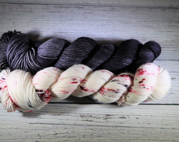 Ready to Ship - I Want to Believe Set Hand Dyed Sock Yarn