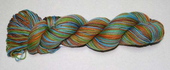 Socktober Self Striping Hand Dyed Sock Yarn