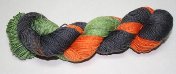 Vintage Halloween Hand Dyed Sock Yarn