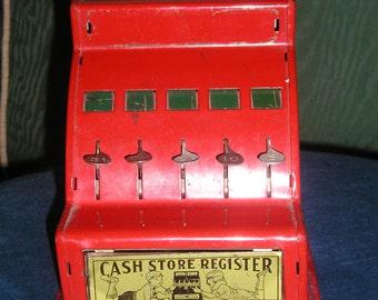 SALE Vintage Toy Cash Register,Metal,1940's