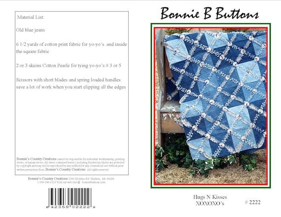 Sale Pattern 2222 Hugs N Kisses Ragged Edge Denim Quilt Etsy