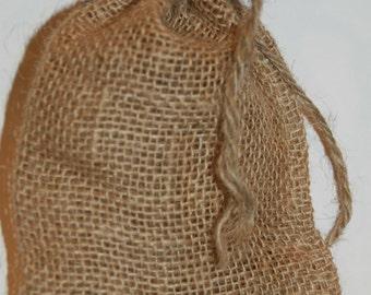 Burlap Bags, Wedding Burlap Favor Bags ,Rustic Wedding 50 Qty Burlap Bags 4x6