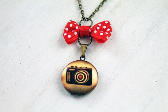 Camera love locket necklace photo photograph