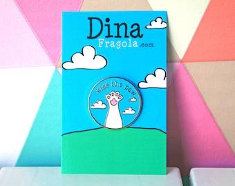 Pet paw kawaii pin cat pin dog brooch bunny jewelry crazy cat lady daddy dog lover rabbit fan