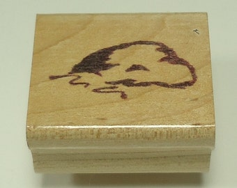 Rock Wood Mounted Rubber Stamp