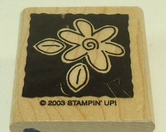 Flower Wood Mounted Rubber Stamp By Stampin Up