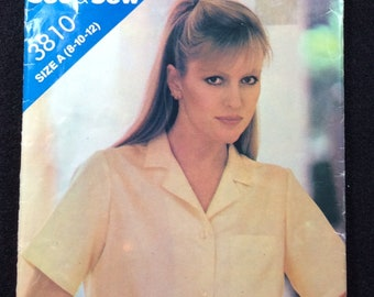 Butterick See & Sew Misses' Shirt Pattern 3810 Size 8 - 10 -12