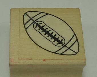 Football Wood Mounted Rubber Stamp
