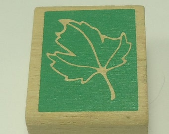 Maple Leaf Wood Mounted Rubber Stamp