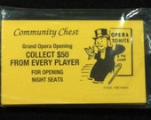 New Old Stock Community Chest Cards, New In The Package, Never Been Opened, Monopoly, Cards, Orange, Game, Piece, Replacement Cards, Board