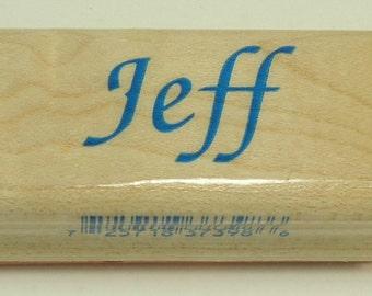 Jeff Wood Mounted Rubber Stamp By Inkadinkado