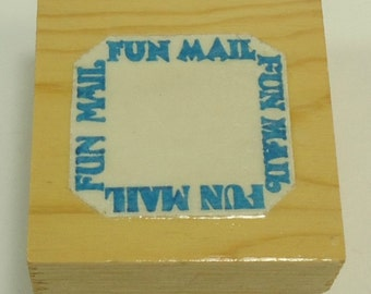 Fun Mail Frame Wood Mounted Rubber Stamp