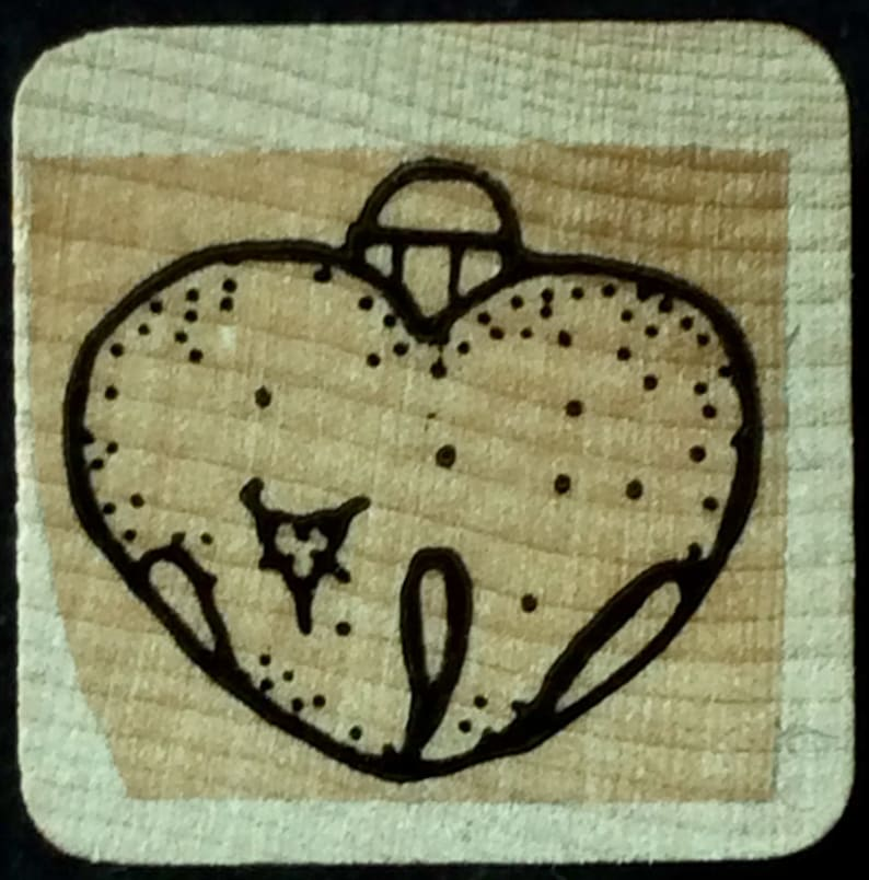 Jingle Bell Wood Mounted Rubber Stamp Close To My Heart CTMH Christmas Holiday