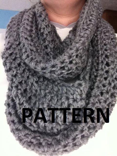 Crochet Pattern : Women\'s Infinity Scarf Pattern Infinity