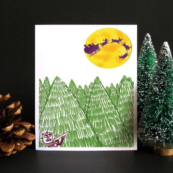 Funny Christmas Card Funny holiday card Holiday card   Etsy