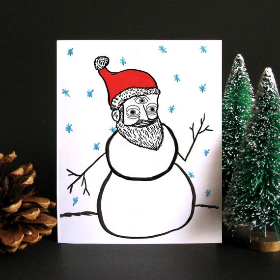 Funny Christmas Card Funny holiday card Christmas card | Etsy