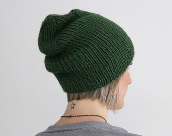 9d0d553691c Finch Hat in Dark Sage - Adult Knit Ribbed Hat