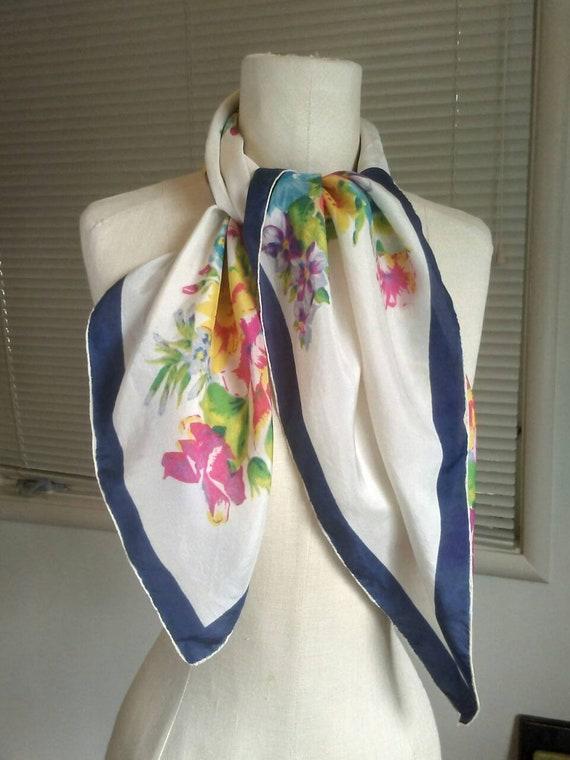 Années 1950 50 s Foulard mousseline Style-Rose