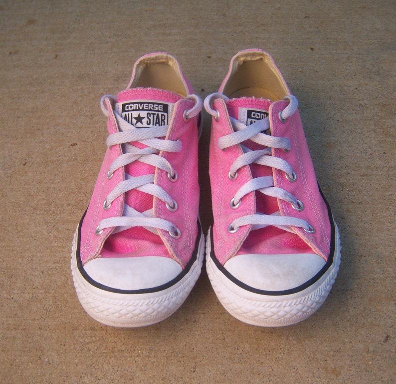 aef9c4976b PINK Converse All Star canvas sneakers   kids 3 women s