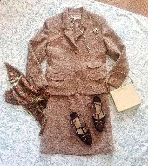 Vintage 70s Lilli Ann dress suit / Adolph Schuman