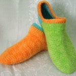 Felted Wool Slipper Socks  Crochet Pattern PDF Womens size 8-9  - permission to sell what you make