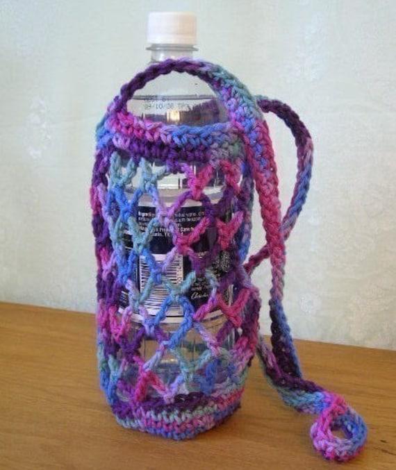 Crochet Pattern Pdf For Water Bottle Carrier Holder Tote