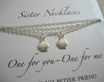 Sister Necklaces - Shell