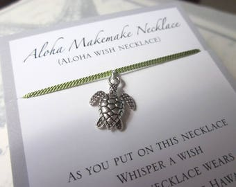 Aloha Wish Necklace - Turtle