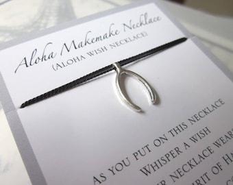 Aloha Wish Necklace - Wishbone