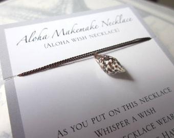 Aloha Wish Necklace - Dark Brown Shell