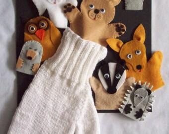 The Mitten Finger Puppet Set