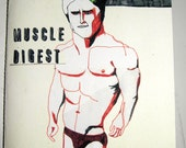 Muscle Digest, A5 32 page colour zine. Limited Edition of 5
