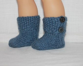 18 inch doll hand knit faux button up boot/socks, 18 inch doll clothes, upbeat petites