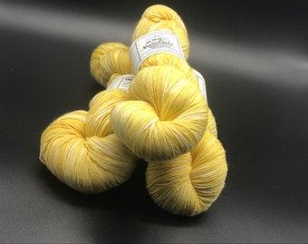 "Naturally Dyed sock yarn, Superwash wool ""You are My Sunshine"""