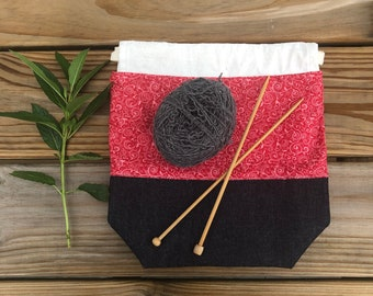 Small project bag, suitable for sock knitting