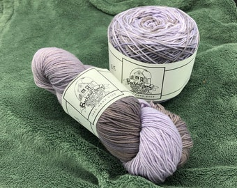 """Naturally dyed Superwash wool sock yarn """"The Grapes of Wrath"""""""