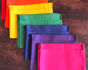 5 Classroom Chair Pockets, Seat Sacks, Desk Organizer, Chair Bag, Durable Washable Duck Cloth Choose the COLOR and SIZE Chair Pocket Factory