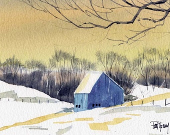 Yellow Sky-Print from an original watercolor painting