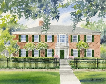 Custom House Painting Home Portrait Drawing Sketch Gift-FREE SHIPPING