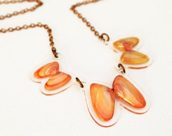 READY MADE SALE - Coquina Shell Necklace - Shell Necklace - Florida Seashell Beach Mermaid Jewelry - Coral/Orange/Peach